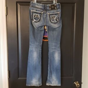 Boot cut Miss Me jeans 27 worn distressed